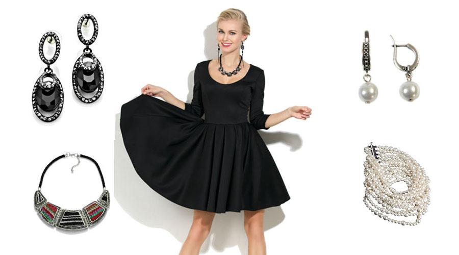 Аксессуары к маленькому черному платью